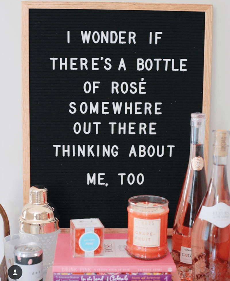 National Rosé Day sign! amazing - See our favorite Rosé Party Ideas on B. Lovely Events!