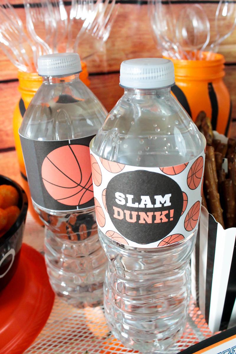 Fun slam dunk basketball party waters