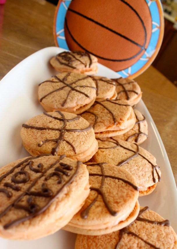 DIY Basketball whoopie pies