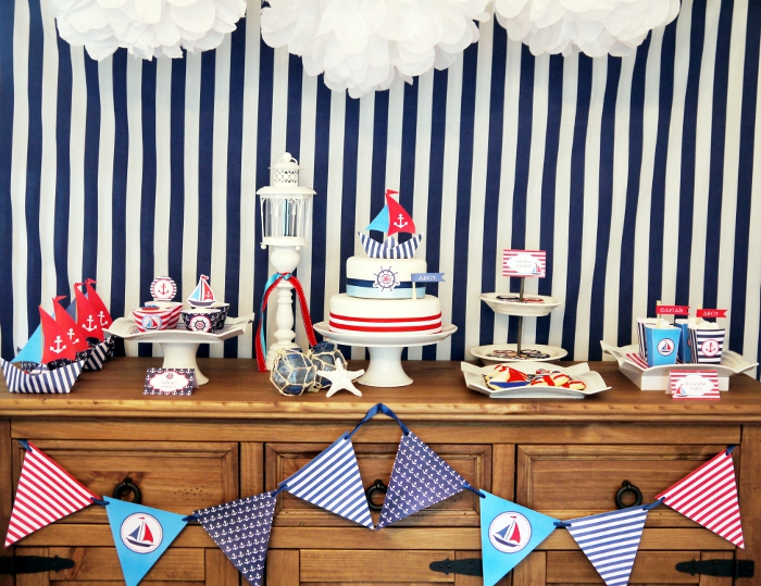 Ships Ahoy! A Boys Nautical Party!  B Lovely Events