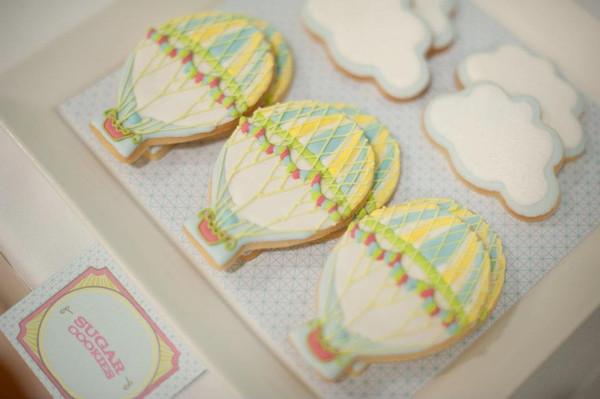 Hot Air Balloon cloud Cookies