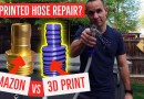 Using 3D printed parts to repair a garden hose.