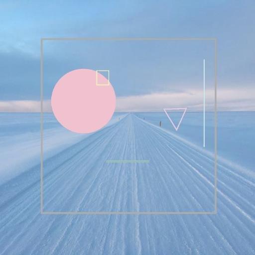 無窮無盡的雪地向前方延伸,這就是當初搭配歌曲放上 SV的舊版 logo。