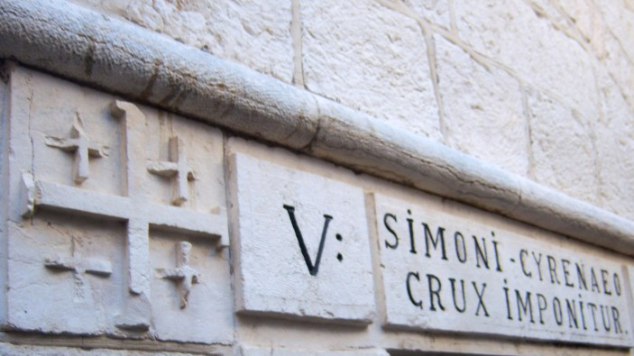 Station 5: Simon the Cyrene takes up the cross