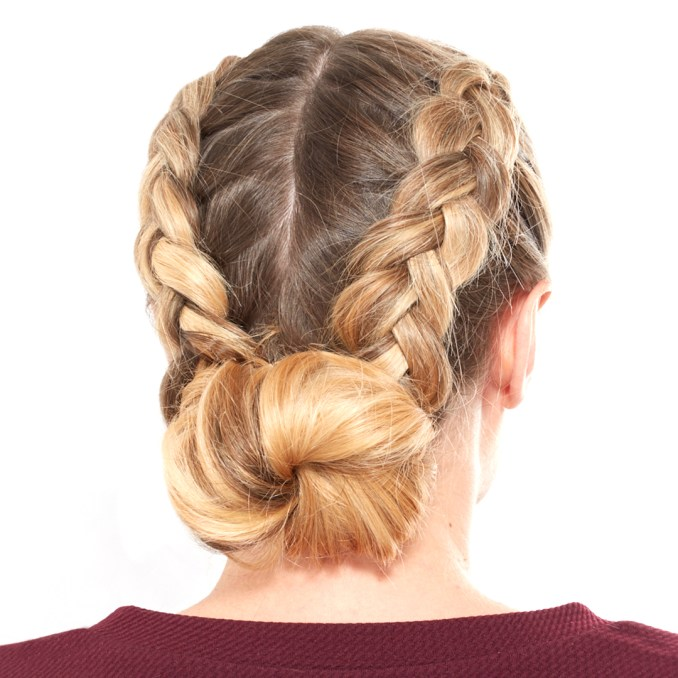 how to do a double dutch braided bun | blow ltd