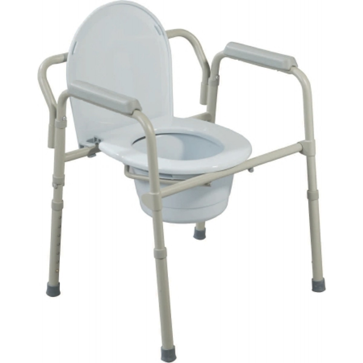 Folding Commode Chair Folding Steel Commode 16 5 To 22 5 Inch 11148n 4