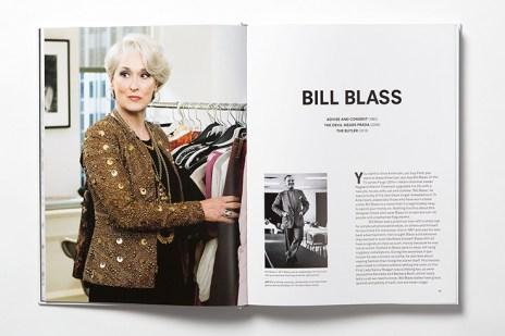 """Páginas dedicadas al diseñador Bliss Blass en """"Fashion in Film""""."""