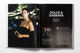 """Páginas dedicas a la firma Dolce & Gabbana en """"Fashion in Film""""."""