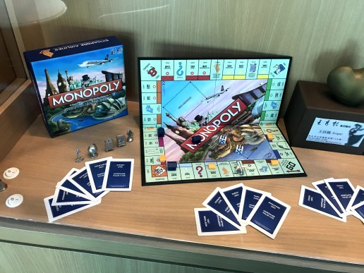 Singapore Airlines themed Monopoly game