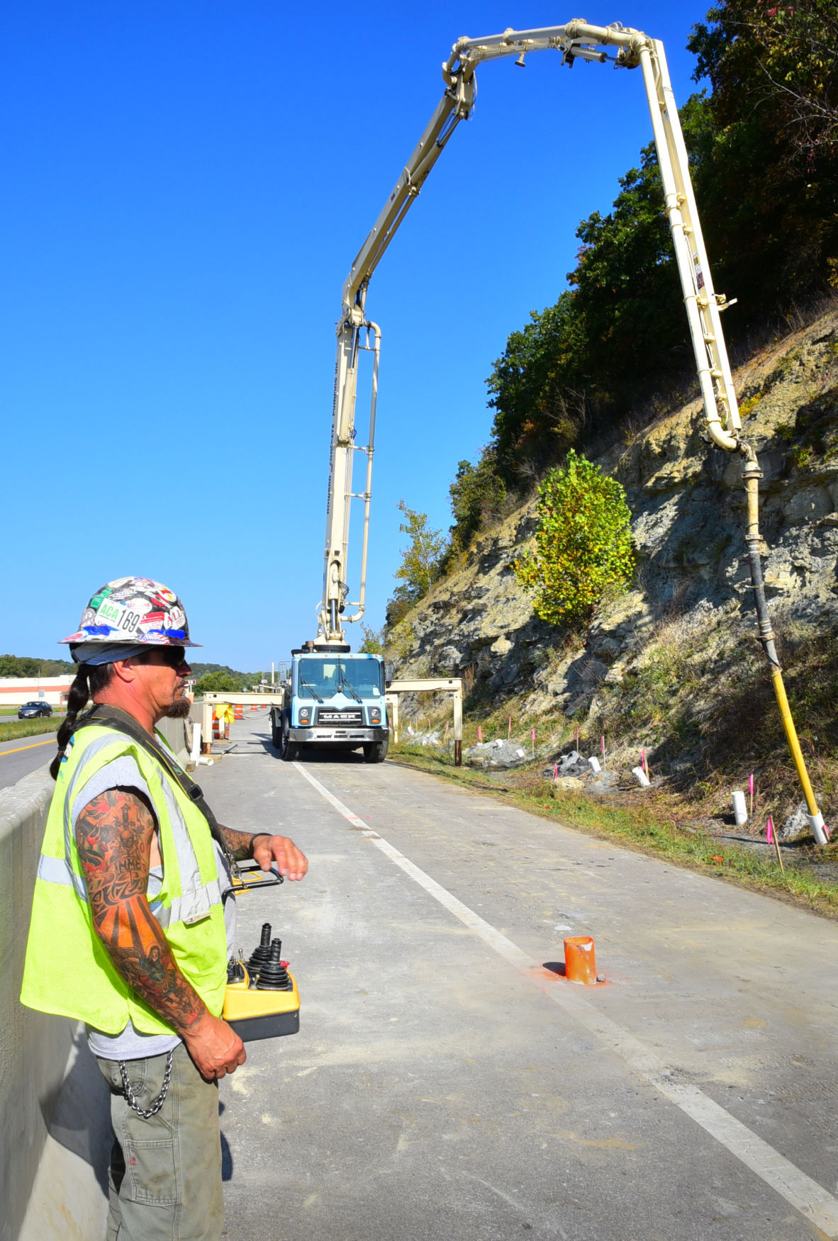 Work underway to stabilize Route 33 over abandoned mine