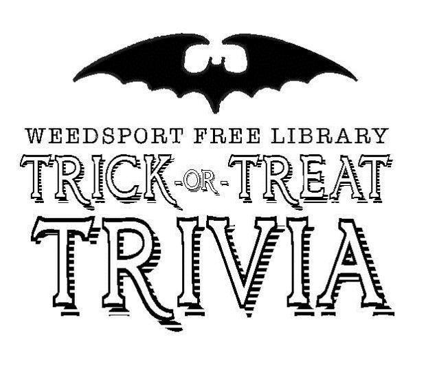 Weedsport Free Library hosting Trick or Treat Trivia