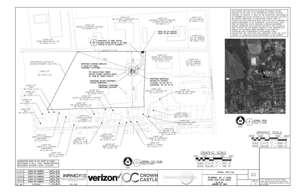 medium resolution of download pdf allen street cell tower site plan