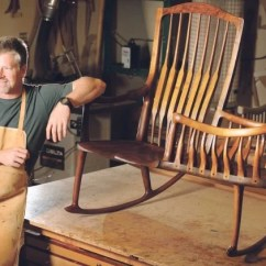 Rocking Chair Fine Woodworking High End Wooden Folding Chairs Maker Creates Dvd To Teach Others How Build