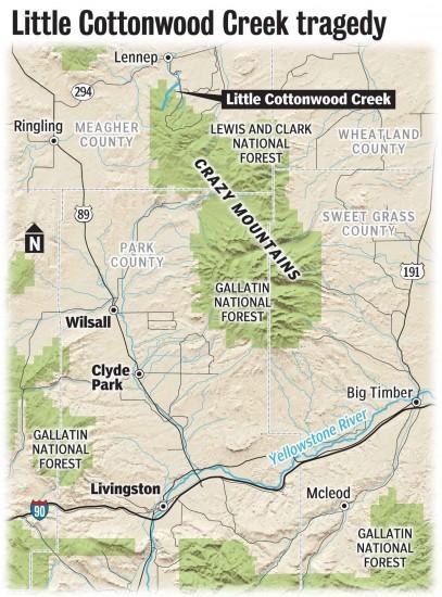 Crazy Mountains Montana Map : crazy, mountains, montana, Hunter, Falls, Death, Crazy, Mountains, Montana, Billingsgazette.com