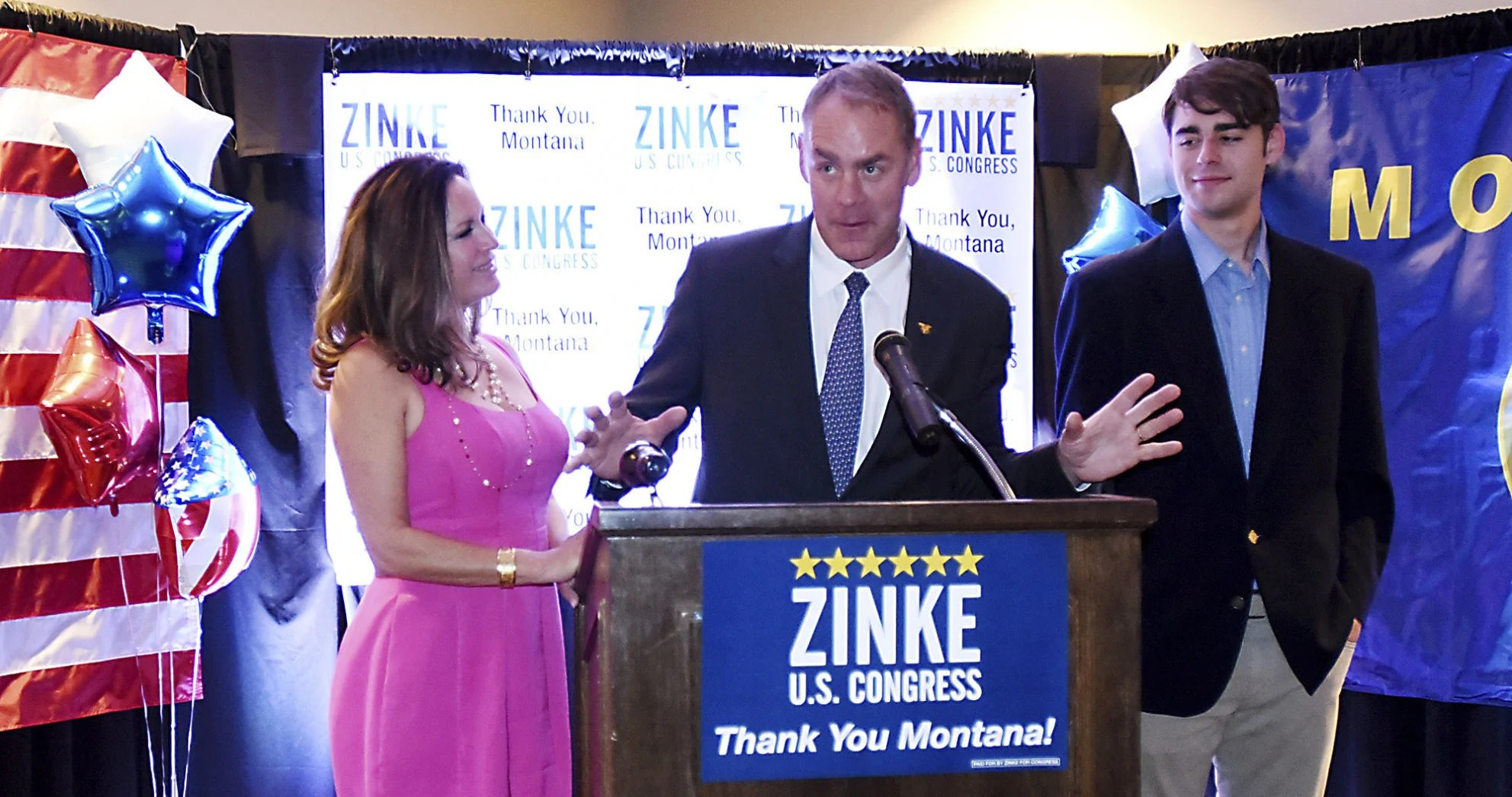Image result for photos of ryan zinke mt rep