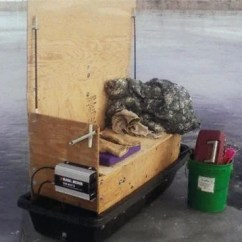 Ice Fishing Chair Shelter Big Lots Office Chairs Sled S An Off Season Building Project Outdoors