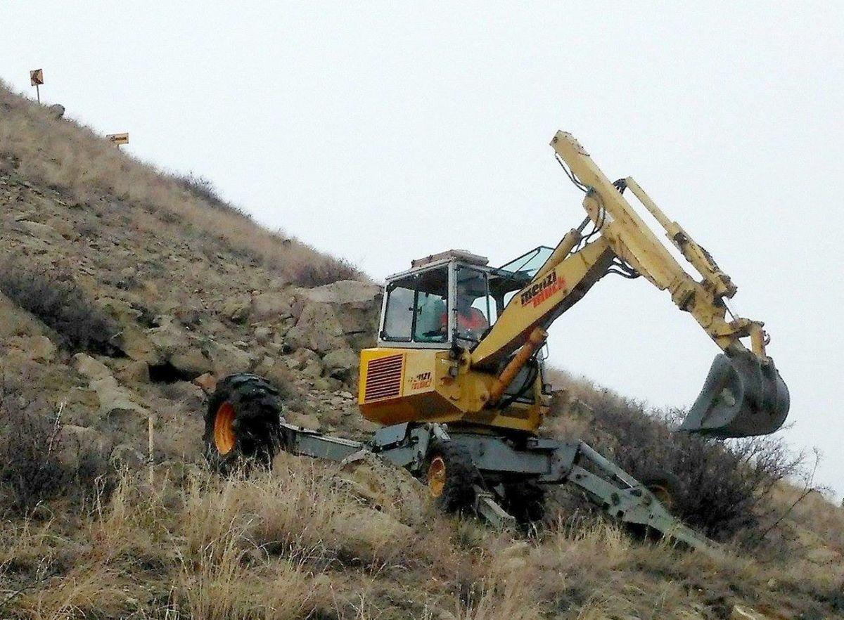 spider excavator testing rims