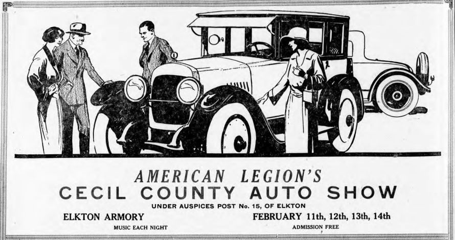American Legion auto shows helped promote early local car