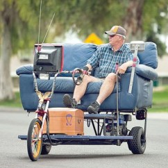 Crazy Sofa Ride Jackknife Replacement Cushions Valley Couch Potato Turns Into A Real Working Drivable Vehicle