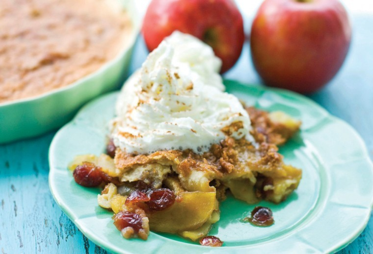 Apple cranberry brulee