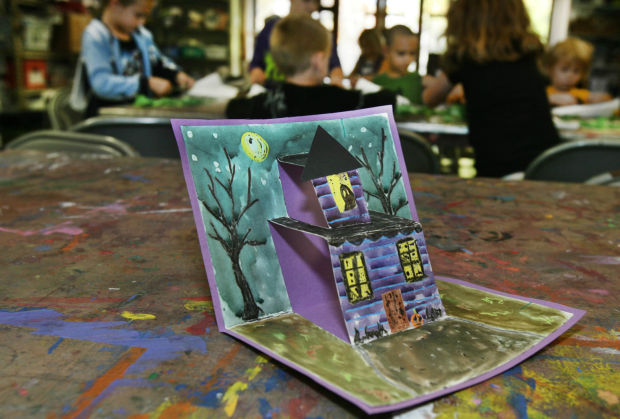 Children have scary fun with Halloween art projects