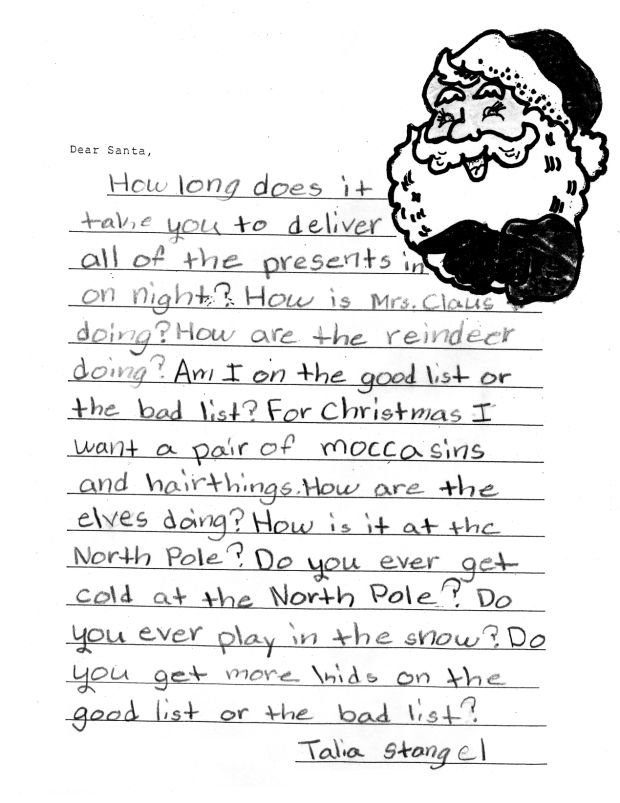 Second Grade Letters to Santa Claus : Mitchell County Press