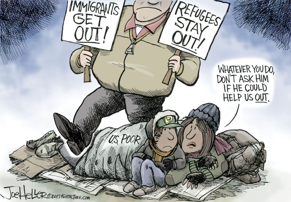 Political Cartoons Facts Fake Flynn Immigration
