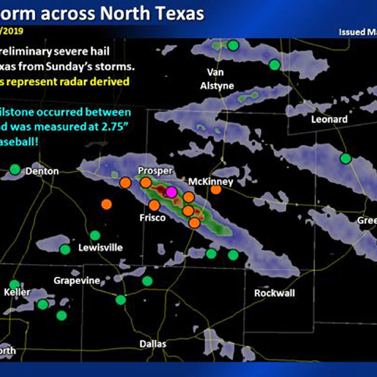medium resolution of hunt county spared significant hail damage