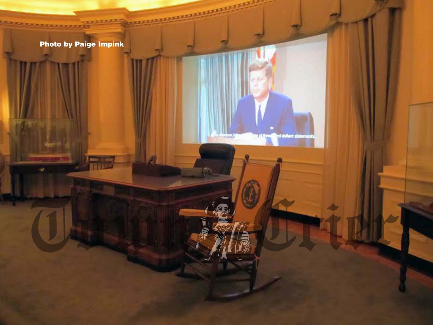 jfk rocking chair swivel overstock an idea lives on at john f kennedy presidential library