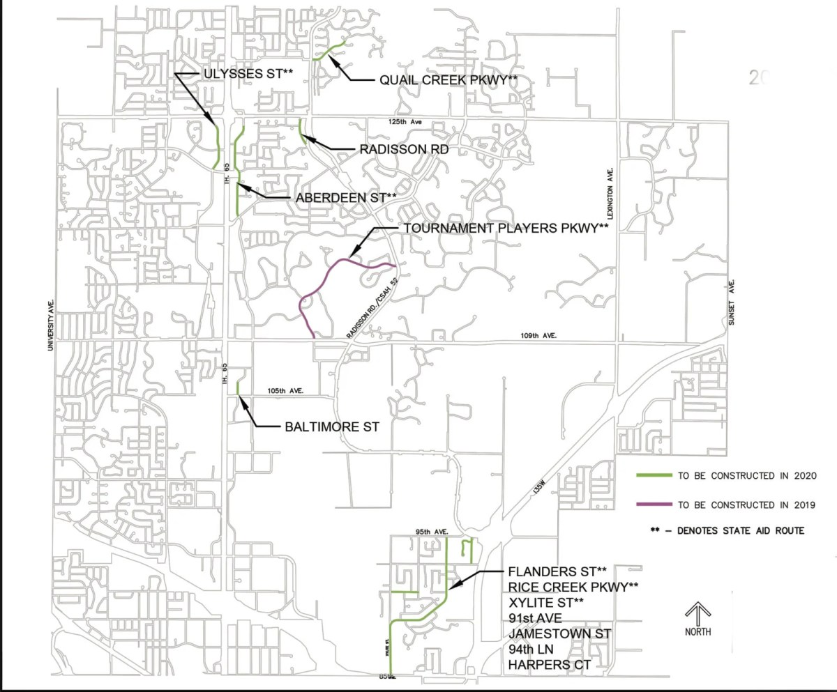 medium resolution of blaine approves 2019 2020 street reconstruction projects blaine hometownsource com