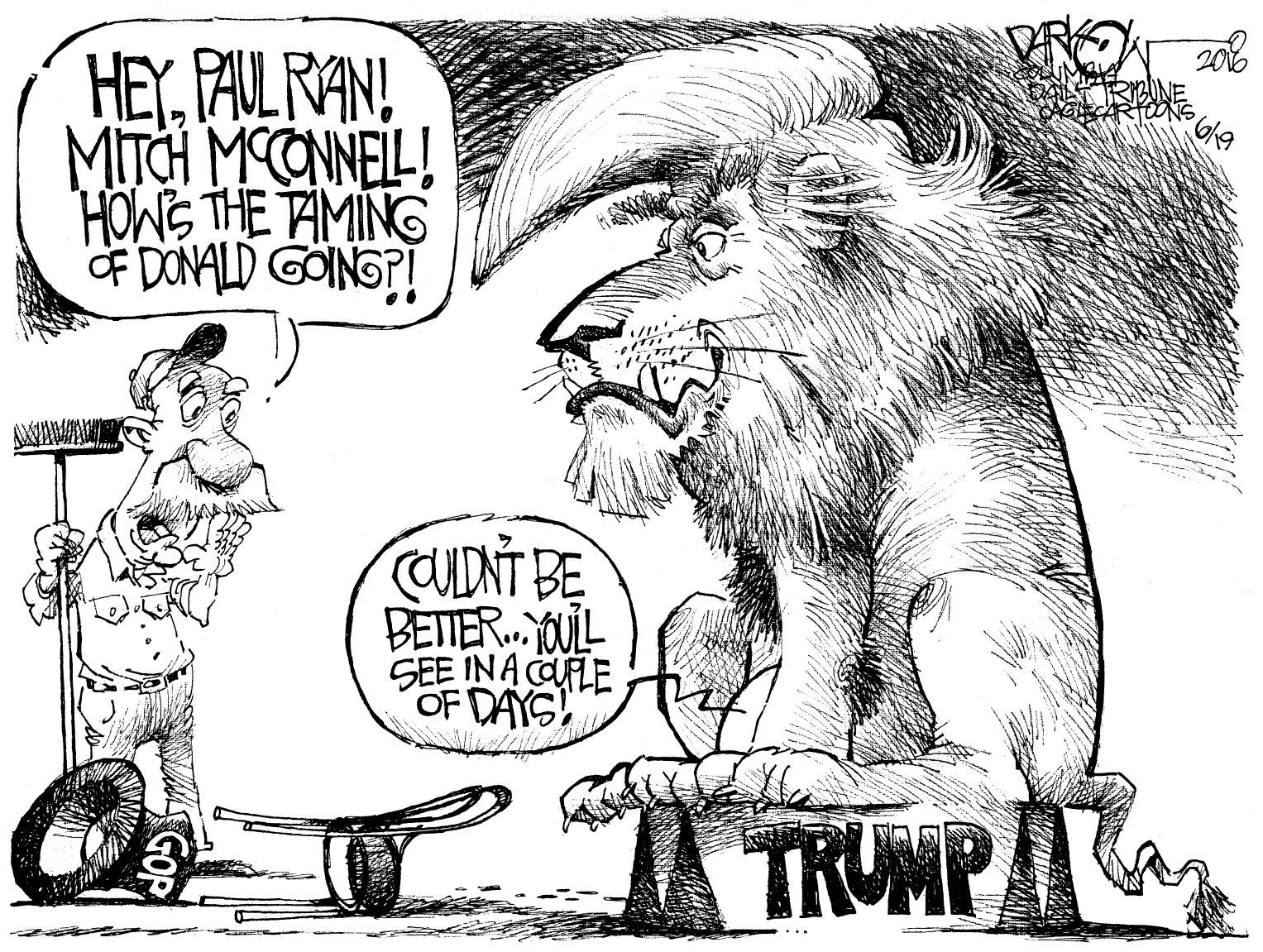 Image result for cartoons trump vs. paul ryan
