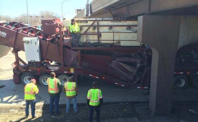Oversize Trailer Freed At Beltline Verona Road Bridge