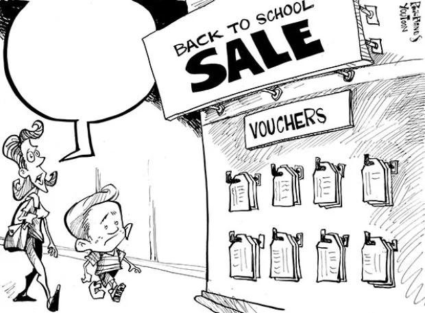You Toon: Back to school voucher sale : Wsj