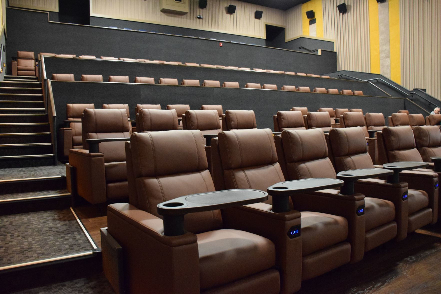 Reclining Chair Movie Theater Village Cinema Opens Remodeled Auditoriums With Reclining Seats