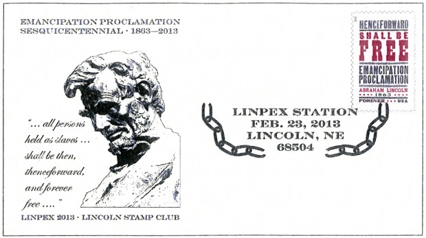 Emancipation Proclamation commemorated at Lincoln stamp