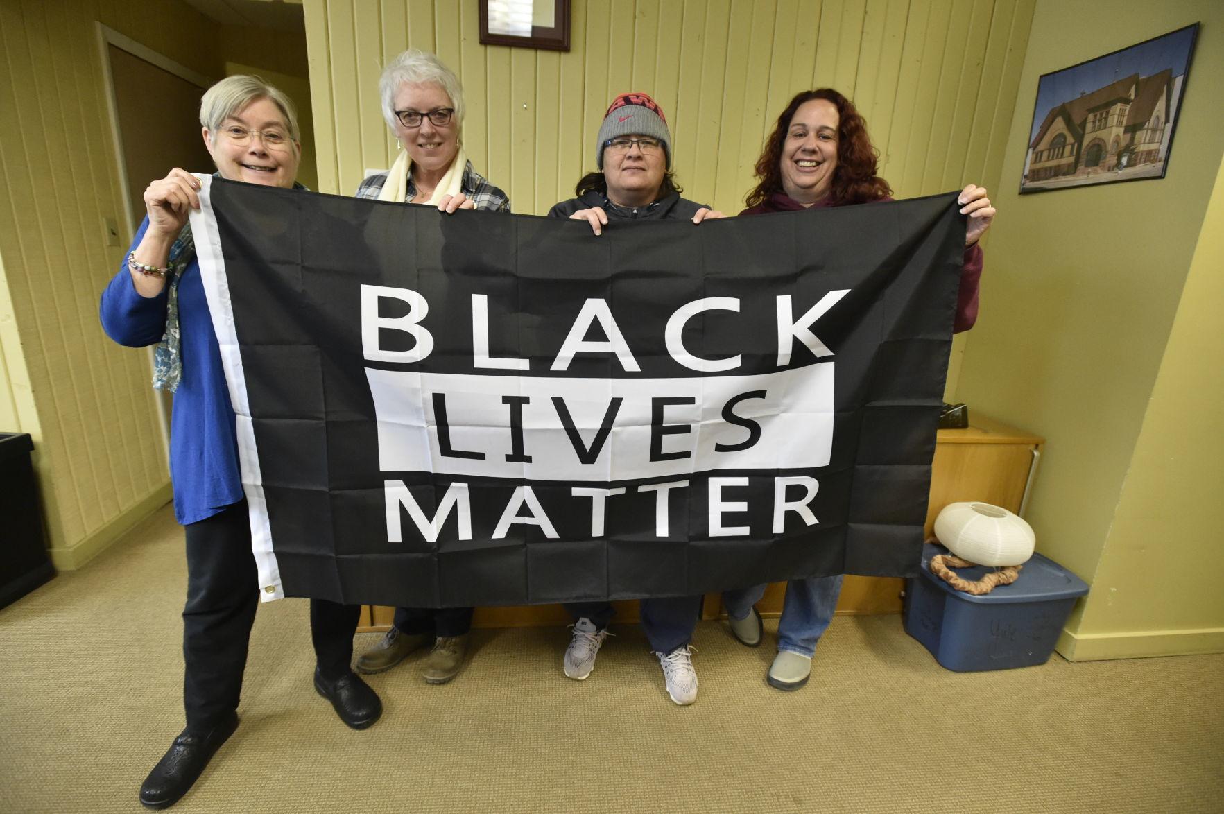 Black Lives Matter Flag Donated To Church New Banner On
