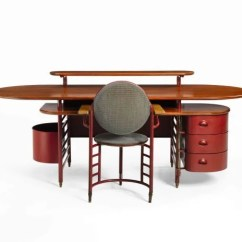 Frank Lloyd Wright Chairs Extra Wide Beach Chair Desk Absent From Auction Site Local Designed And Office
