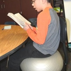 Ball Chairs For Students Revolving Chair Price In Nepal Holmen Teachers Sold On Kids Lifestyles Raygen Sturm Fourth Grader The School District Focuses His Classwork While Sitting A Studies Have Found Restless Are