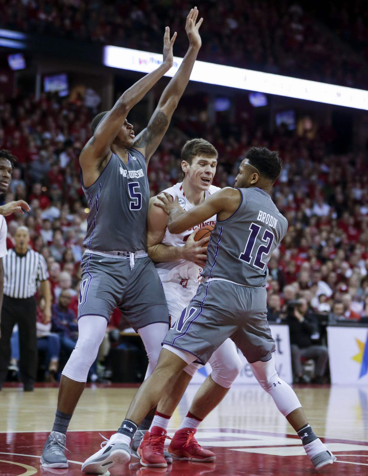 Image result for northwestern wildcats basketball beats Wisconsin