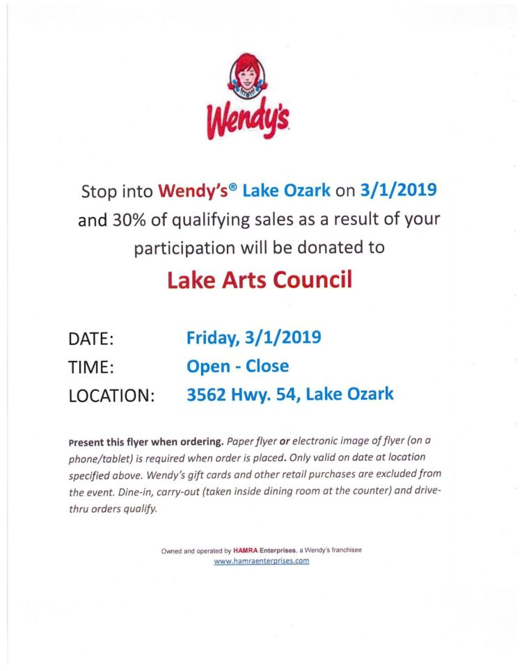 wendy s fundraiser to