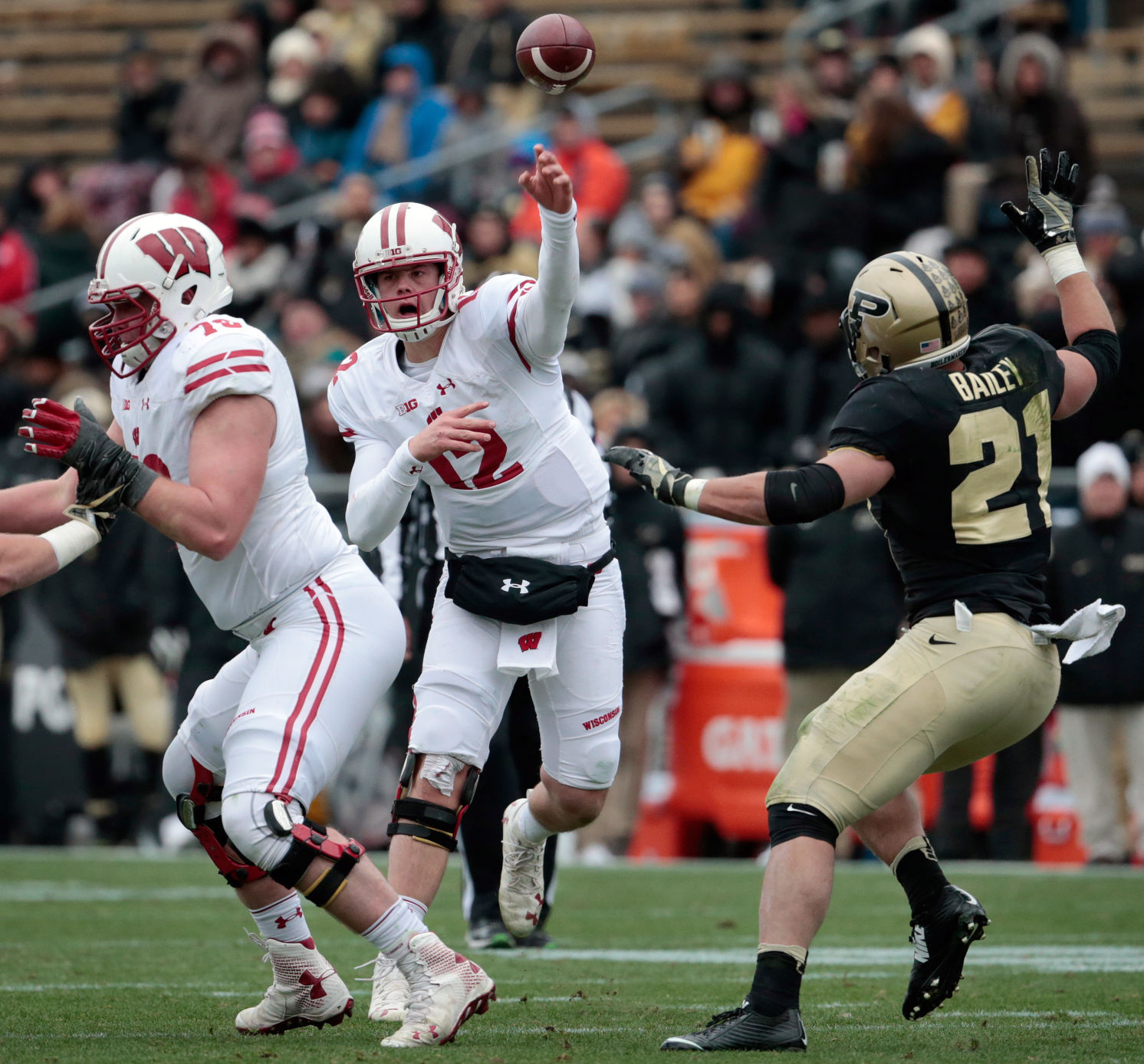 Quarterback also badgers football an early projection of wisconsin   depth rh madison