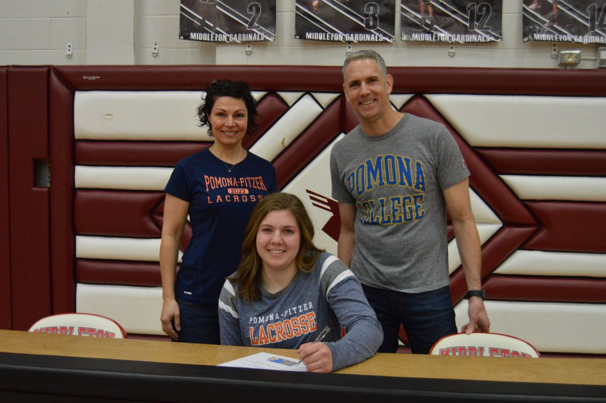 Middleton's Eleanor Lacker, Accompanied By Her Parents, Signs Her Letter Of  Intent To Play College Lacrosse At Ponoma College.