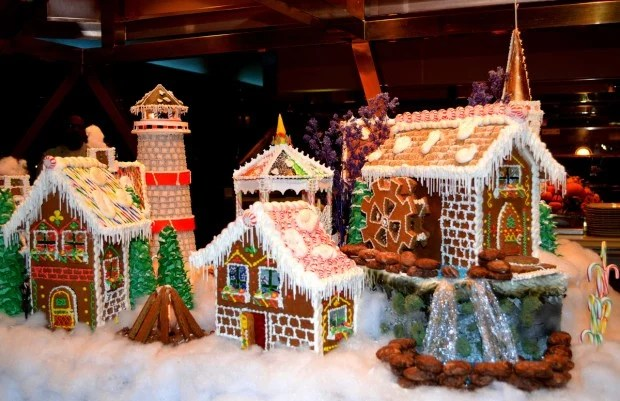 Jackpot Chef Displays Intricate Gingerbread Village