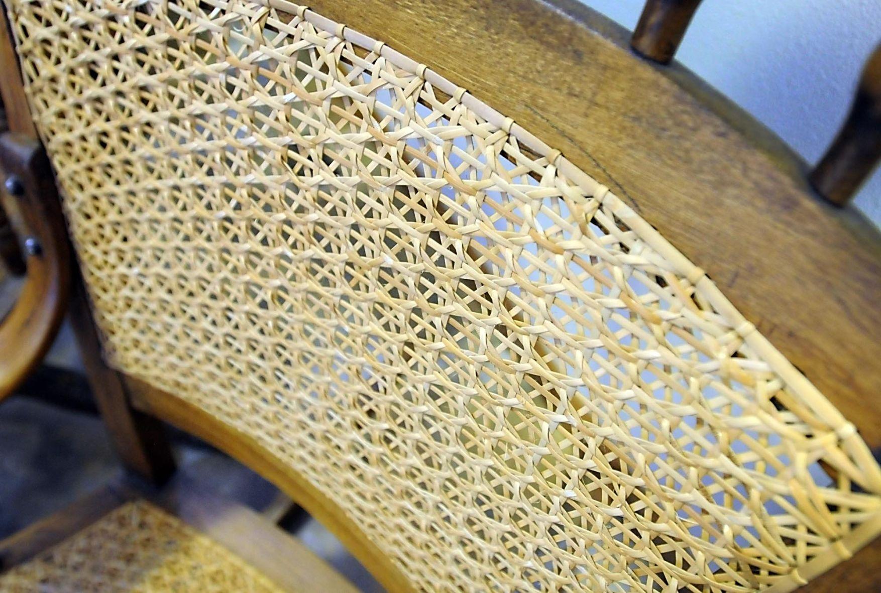 antique cane chairs fold up desk chair retired msu professor a chair-weaving whiz | lifestyles mankatofreepress.com