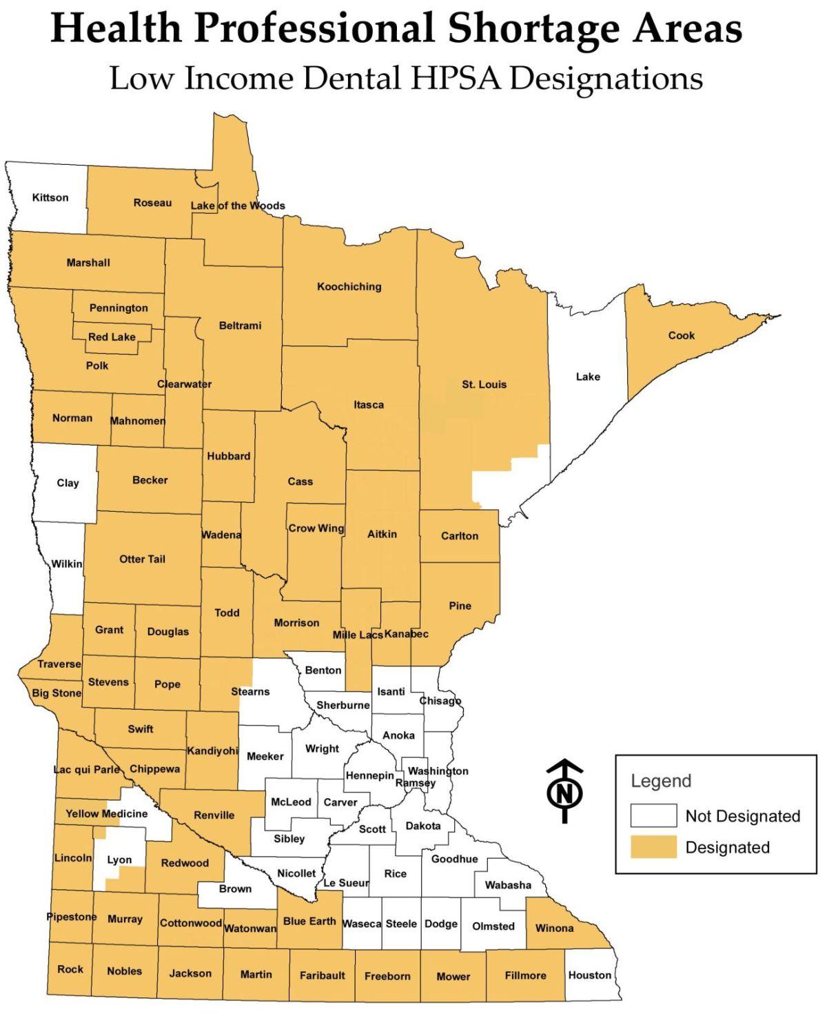 hight resolution of health professional shortage areas hspa low income dental hpsa designations minnesota