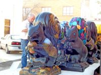 Black Squirrels on Parade statues ready for debut - The ...