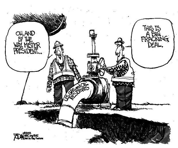 CARTOON: President should know that oil, gas reserves are
