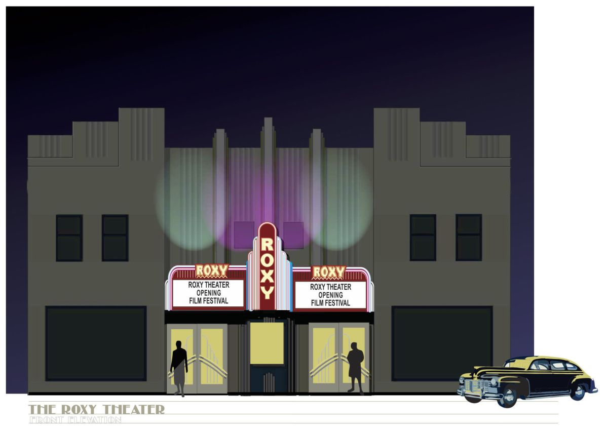 Roxy Theater Renovate Facade Match 1930s Glory Days