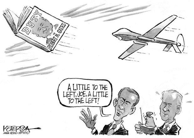 CARTOON: Obama, Biden probably tempted to take out Gates