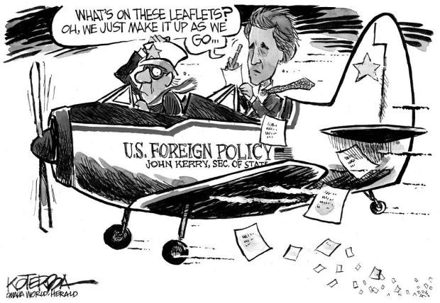 CARTOON: Kerry seems to be making up U.S. foreign policy